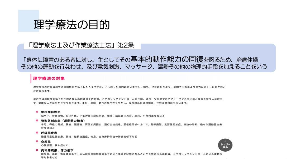 日本理学療法士協会HP